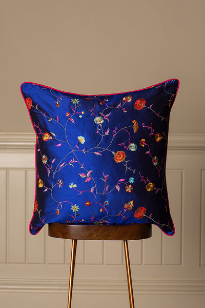 Large Silk Cushion in African Cobalt