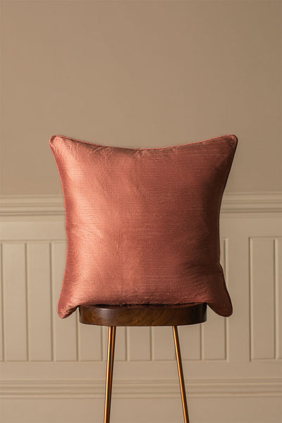 Large Silk Cushion in Blush