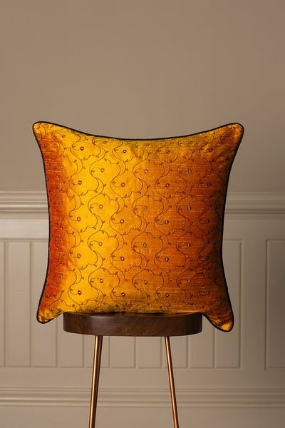 Large Silk Cushion in Jumoke Sun