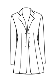 Long European Jacket in Duck Egg