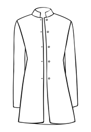 Long Nehru Jacket in Opaline