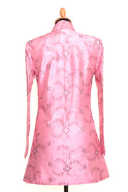 Long Nehru Jacket in Vintage Rose