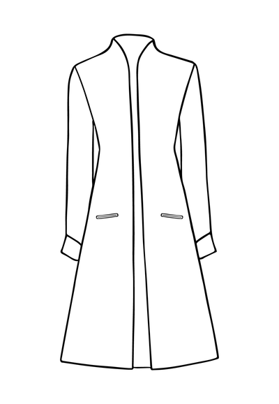 Lyra Coat in Duck Egg