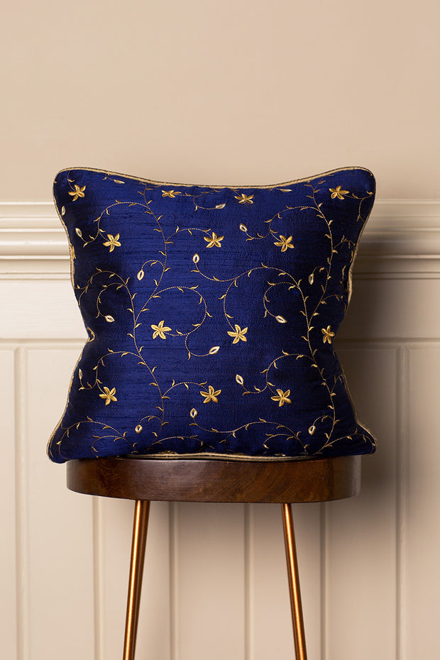 Medium Silk Cushion in Royal