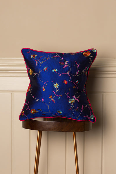 Medium Silk Cushion in African Cobalt