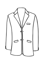 Mens Blazer in Silver