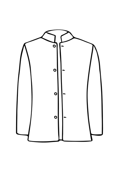 Mens Nehru Jacket in Mineral