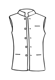Mens Nehru Waistcoat in Oyster Gold