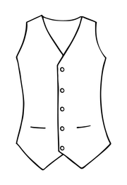 Mens Waistcoat in Antique Gold