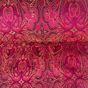 pink and gold jacquard silk fabric