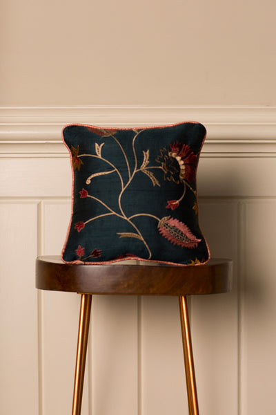 Small Silk Cushion in Mineral