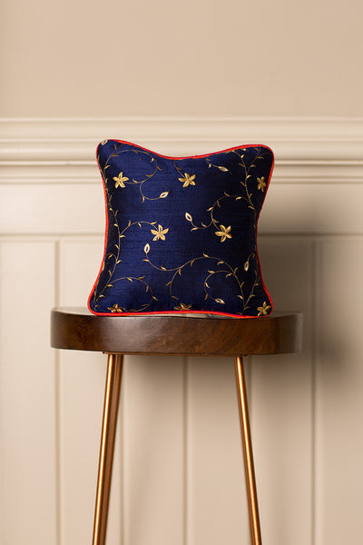Small Silk Cushion in Royal