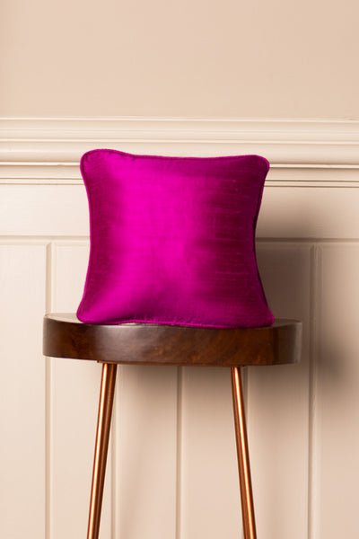 Small Silk Cushion in Wild Orchid