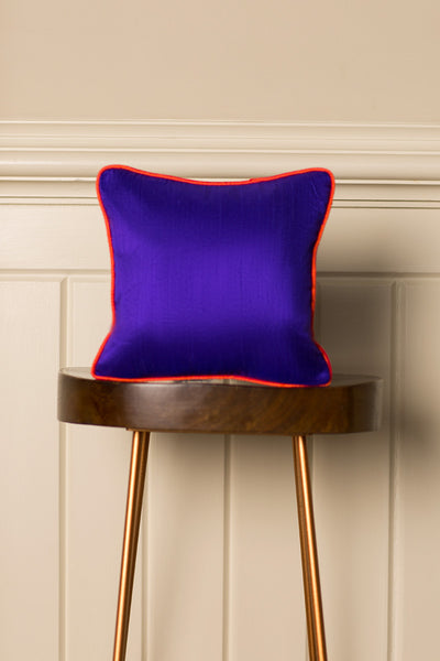 Small Silk Cushion in Deep Violet