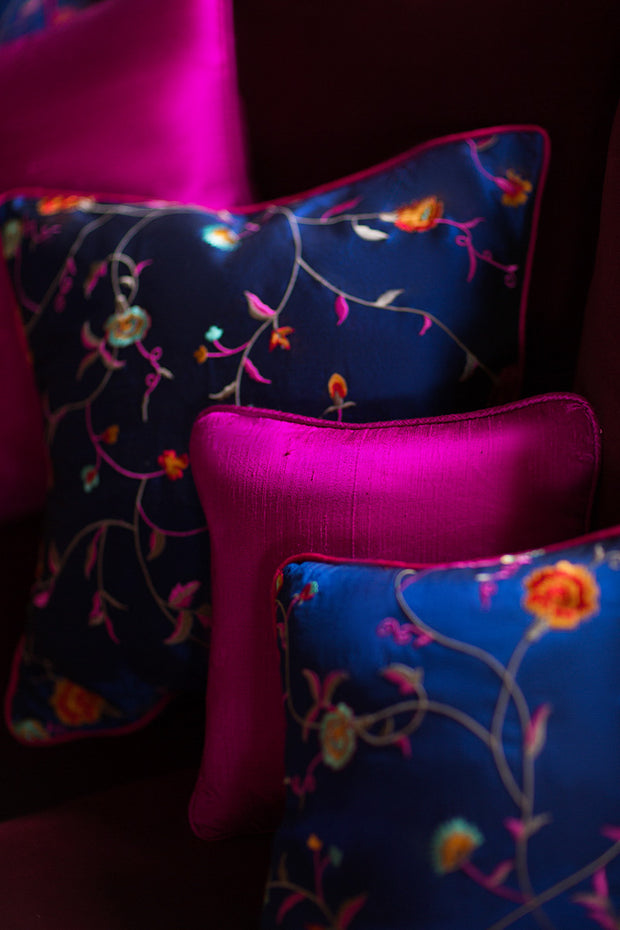 Medium Silk Cushion in Wild Orchid