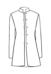 Long Nehru Jacket in Jumoke Sun