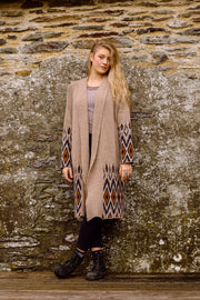 Alpaca Dressing Gown Coat in Highland