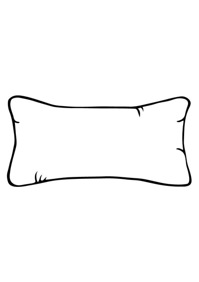 Custom Rectangular Bolster Silk Cushion