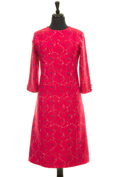 Bardot Dress in Hot Cerise