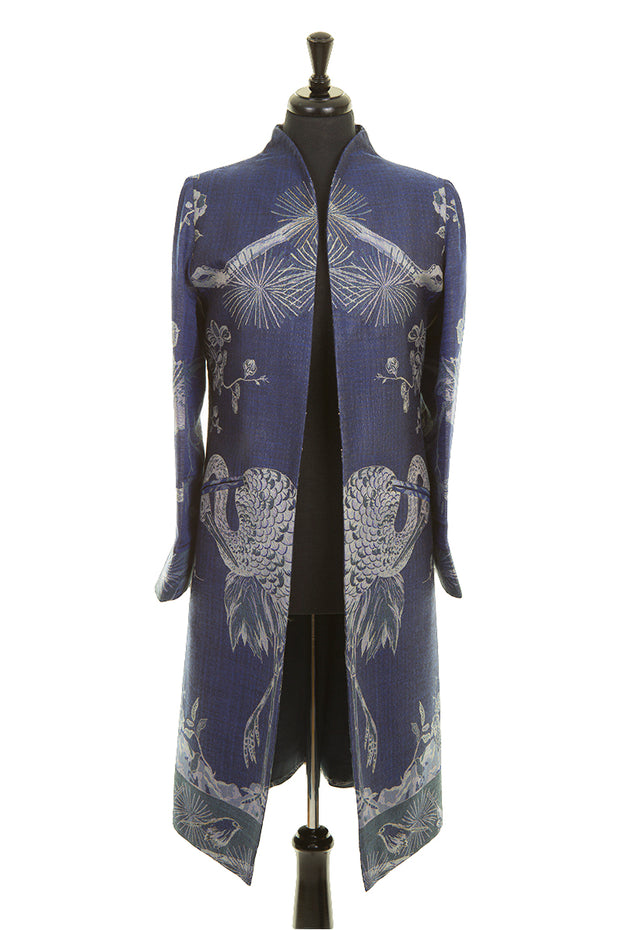 Lyra Coat in Electric Navy - Sale