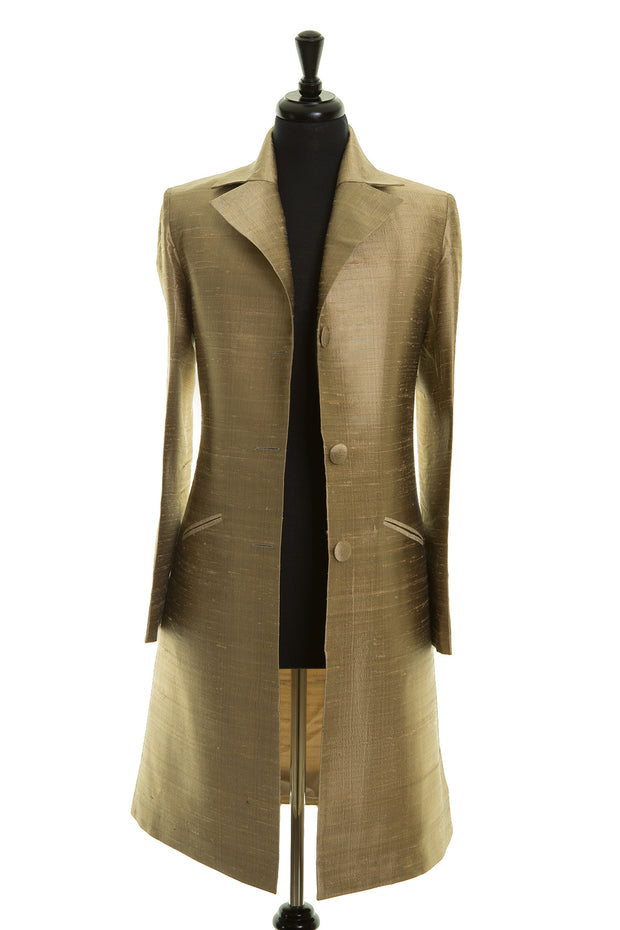 Grace Coat in Oyster Gold