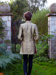 Long Nehru Jacket in Antique Gold