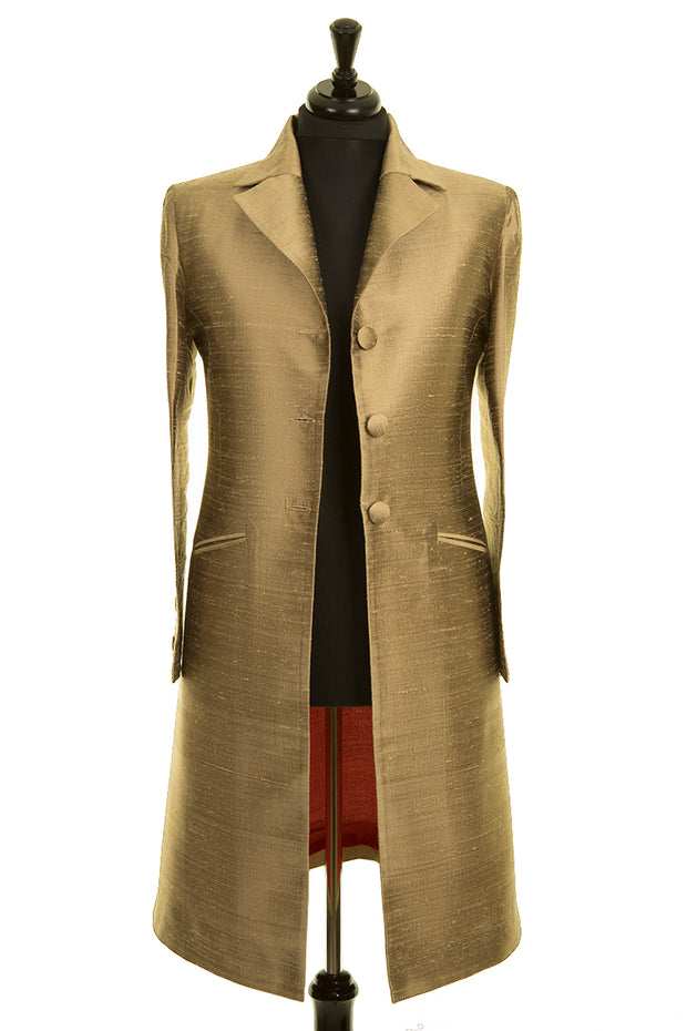Stage Coat in Oyster Gold - Sale