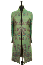 Lyra Coat in Dragonfly Green - Sale