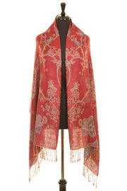 Shawl in Venetian Red