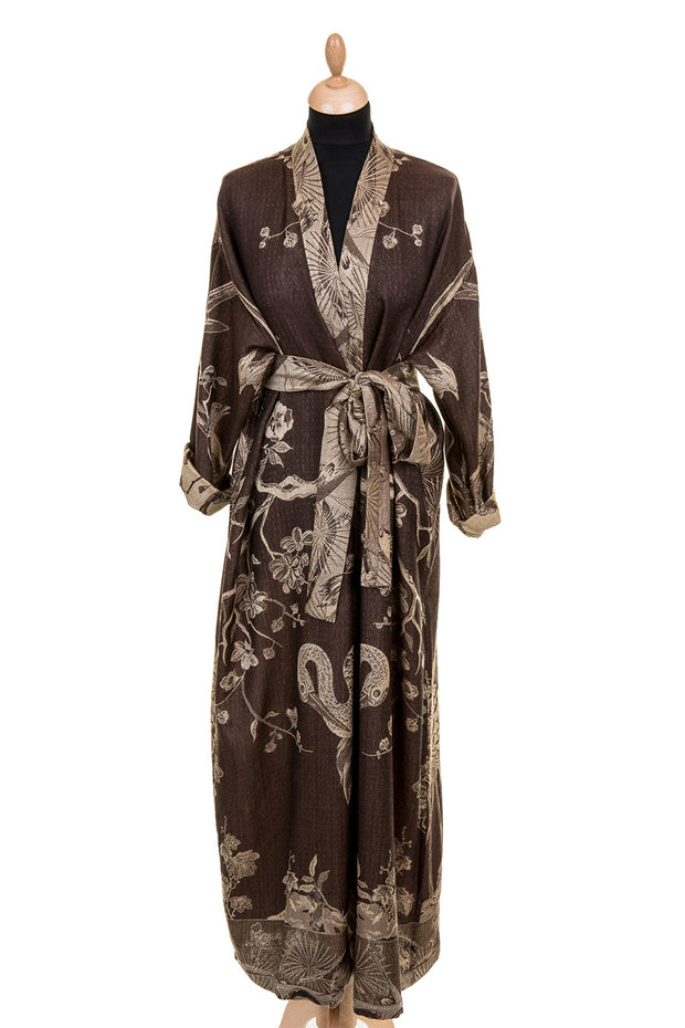Reversible Dressing Gown in Porcini