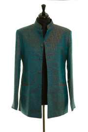 Mens Nehru Jacket in Royal Jacquard