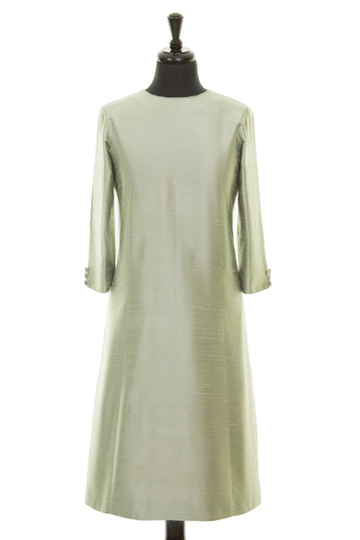 Bardot Dress in Pearl Green
