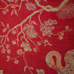 Fabric for Overcoat in Venetian Red
