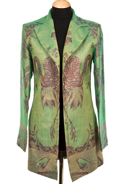 Long European Jacket in Dragonfly Green