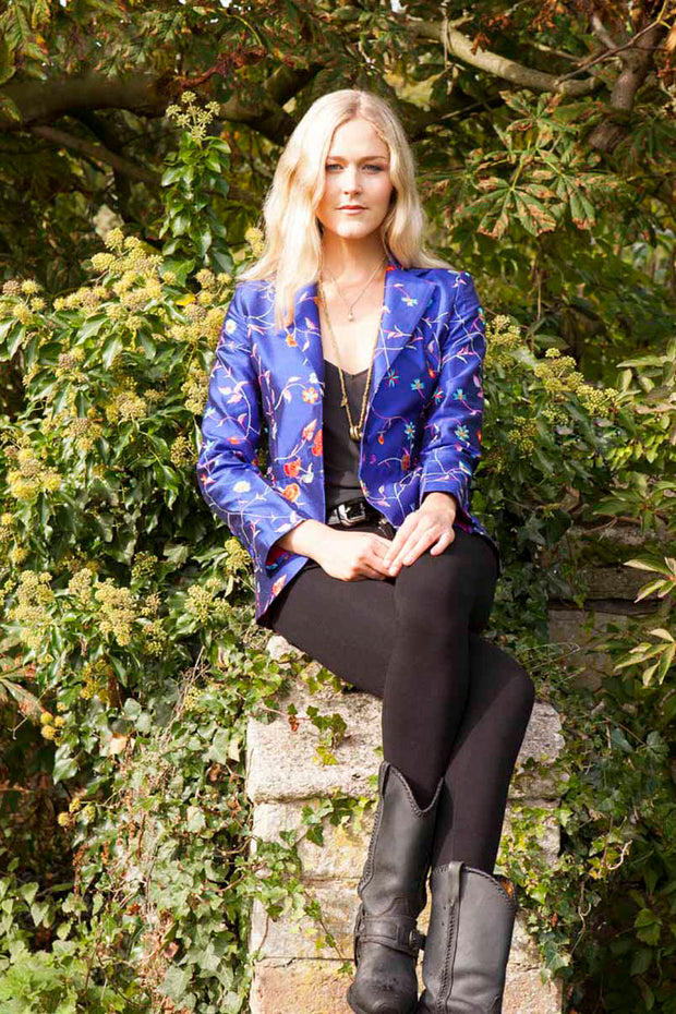 Lotus Jacket in African Cobalt