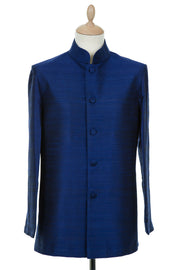 Mens Nehru Jacket in Midnight Blue