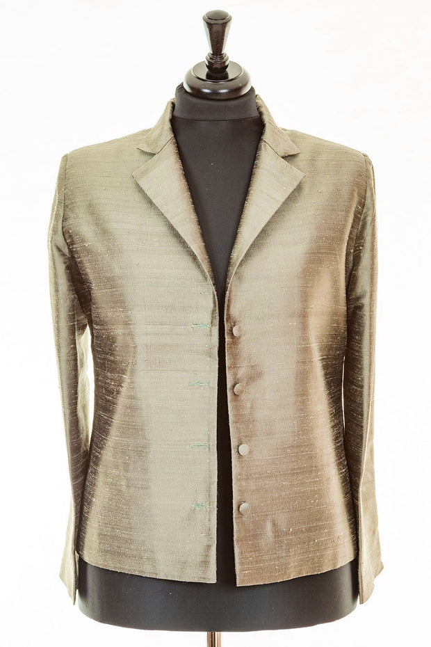 Short European Jacket in Oyster Gold