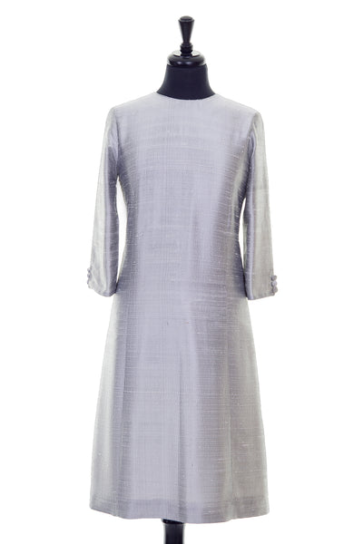 Bardot Dress in Silver