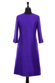 Bardot Dress in Deep Violet
