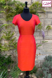 Vera Dress in Flame 8-10