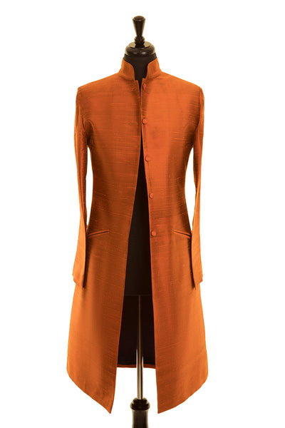 Nehru Coat in Burnt Orange