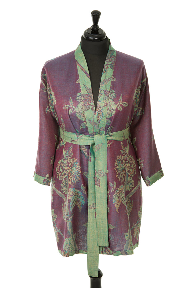 Reversible Kimono Jacket in Dragonfly Green