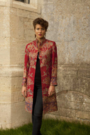 Nehru Coat in Venetian Red