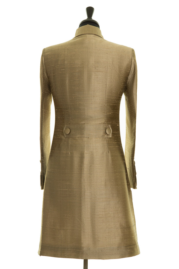Grace Coat in Oyster Gold - Sale