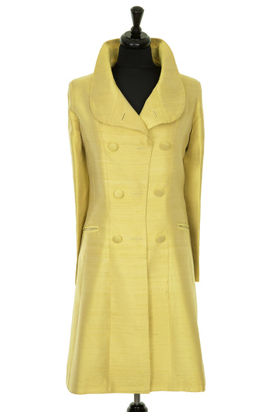 Delphine Coat in Lemon Yellow