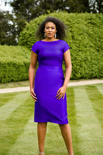 Hepburn Dress in Deep Violet