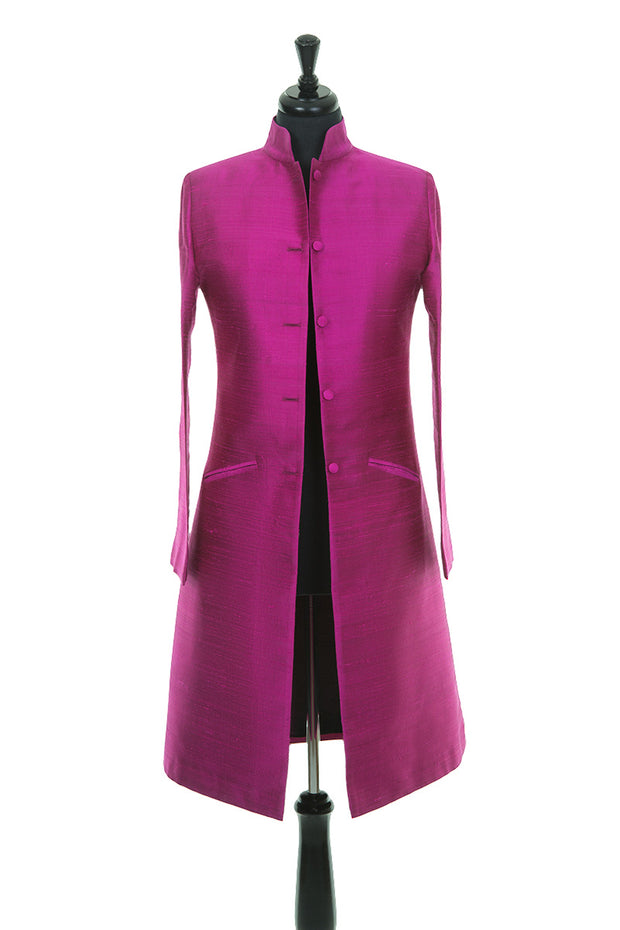 Nehru Coat in Wild Orchid