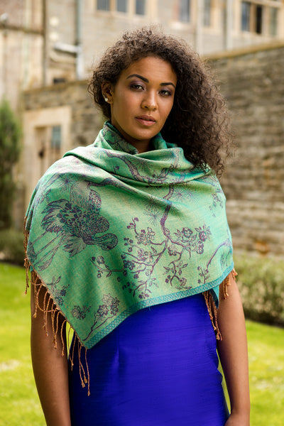 Shawl in Dragonfly Green