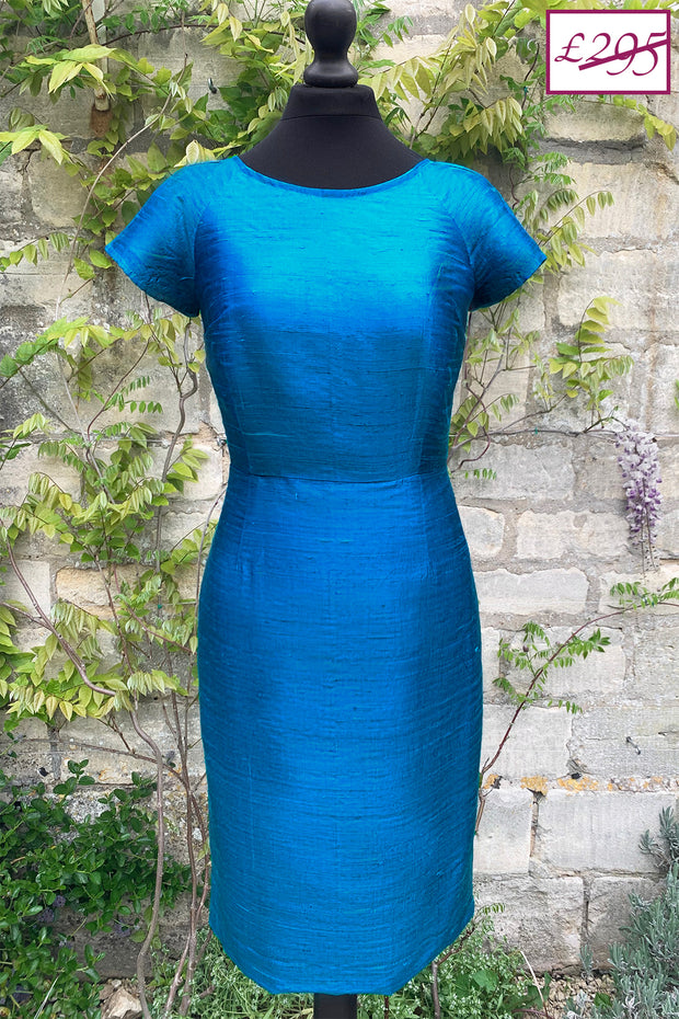 Vera Dress in Kingfisher Blue 8