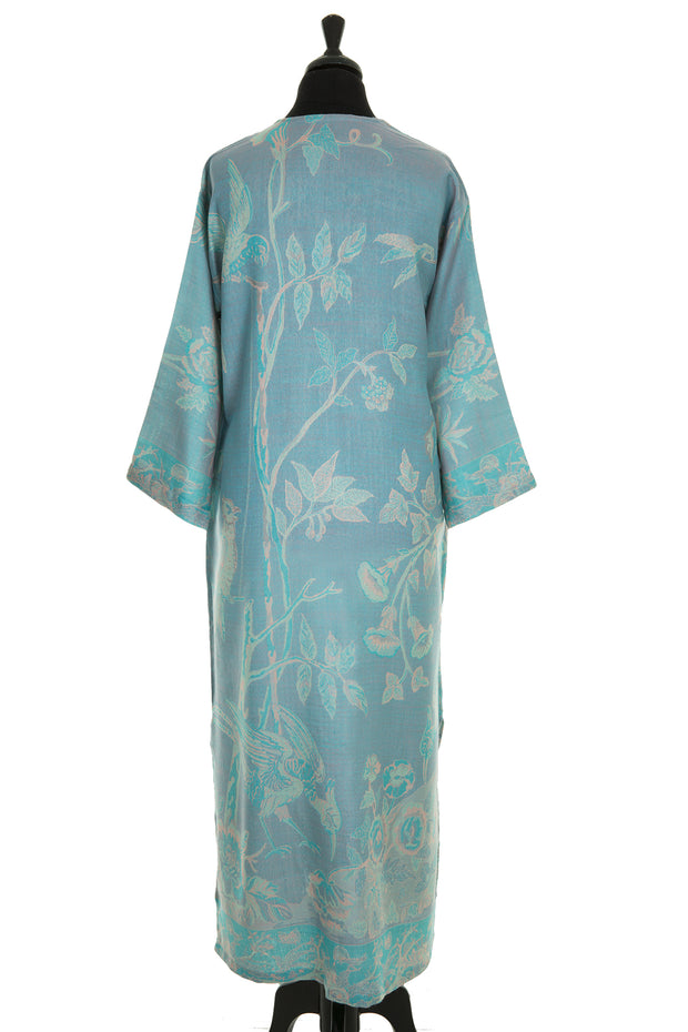 V Neck Kaftan in Pale Cyan